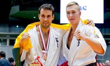 Lukas Kubilius ir 7-os vietos laimėtojas Edgardas Sečinskis (pufasfoto.lt nuotr.)