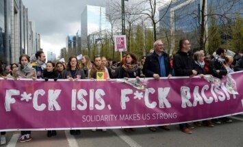 Briuselyje surengtas maršas prieš terorizmą
