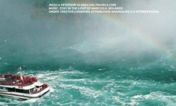 Keliautoja įamžino įspūdingą Niagaros krioklio grožį ir didybę