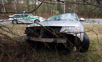 Audi A3 avarija Vilniaus rajone