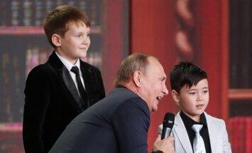 V. Putinas su jaunaisiais geografais