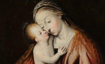 Švč. Mergelė su kūdikėliu Jėzumi (autorius nežinomas)