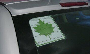 Klevo lapas, nepatyres vairuotojas, pradedantysis vairuotojas