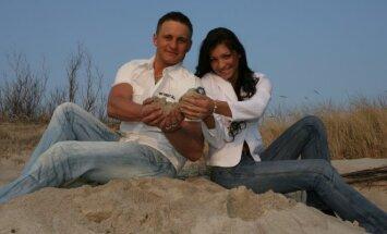 Andrius Rimiškis su žmona Vaida