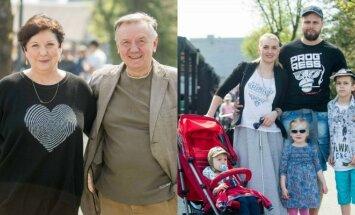 Larisa Kalpokaitė su vyru, Rūta Ščiogolevaitė su šeima