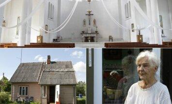Pilviškių bažnyčia ir B. Staneikaitės namai