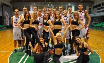 VDU krepšininkai ir šokėjos