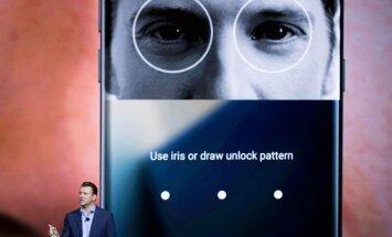 Biometrinė autentifikavimo sistema telefone Samsung Galaxy Note 7