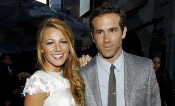 Blake Lively  ir Ryan Reynolds