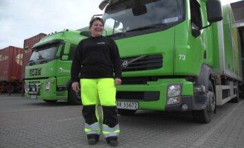 Lietuvė Norvegijoje vairuoja sunkvežimį