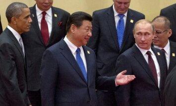 Barackas Obama, Xi Jinpingas, Vladimiras Putinas
