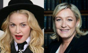 Madonna ir Marine Le Pen