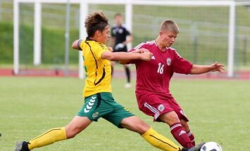 Futbolas: Lietuva U17 - Latvija U17 (LFF.lv nuotr.)