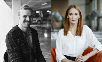 Dizaineris Robertas Kalinkinas ir vestuvių planuotoja Laura Vagonė (G. Varnaitės/L. Aidukės nuotr.)