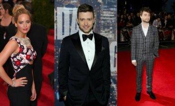 J. Lawrence, J. Timberlake'as ir D. Radcliffe'as