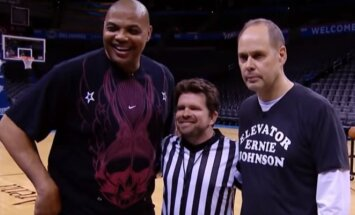 Charlesas Barkley ir Ernie Johnsonas