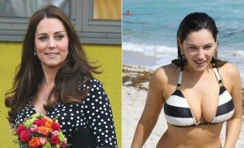Kate Middleton ir Kelly Brook