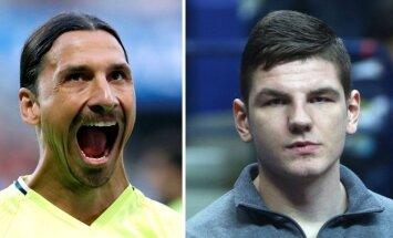 Zlatanas Ibrahimovičius ir Artūras Gudaitis (Reuters/Scanpix nuotr.)
