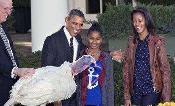 Barackas Obama prieš Padėkos dieną suteikė malonę dviem kalakutams