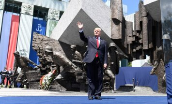 D. Trump speaks to the Poles in Warsaw
