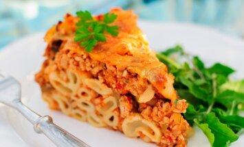 Lengvas savaitgalio eksperimentas: makaronų ir maltos mėsos apkepas