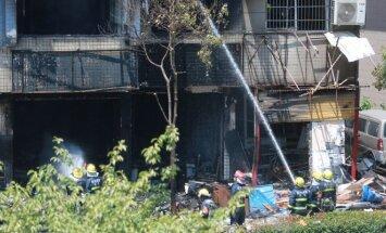 Hangdžou mieste Kinijoje sprogo dujų balionas