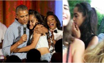 Barackas Obama su dukterimi Malia
