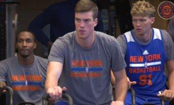 Mindaugas Kuzminskas Niujorko Knicks treniruotėje