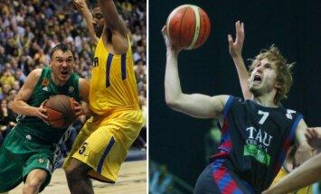 Šarūnas Jasikevičius ir Arvydas Macijauskas (Reuters/Scanpix ir Vida Press nuotr.)