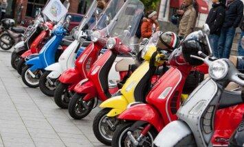 Vespa motoroleris populiarus ir Lietuvoje