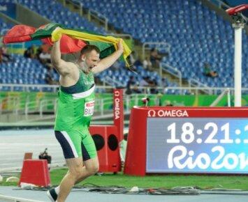 Mindaugas Bilius Rio de Žaneiro parolimpinėje rutulio stūmimo rungtyje (R. Navicko/RGB pictures nuotr.)