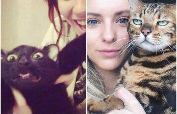 Kai katinai visai nenori fotografuotis: juokingiausios augintinių sugadintos nuotraukos