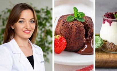 Dietologė pataria, kuo desertuose pakeisti cukrų ir miltus