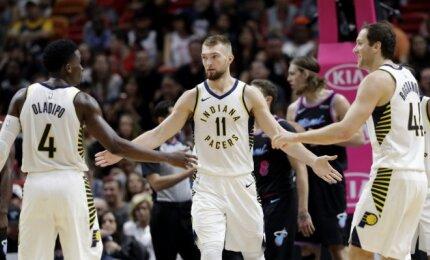 """Galingas Sabonio žaidimas leido """"Pacers"""" vėl laimėti išvykoje"""
