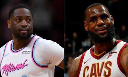 """NBA naktis: Wade\'o sugrįžimas į Majamį ir LeBrono siautulys po drastiškų """"Cavaliers"""" permainų"""