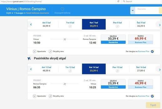 Iš Vilniaus į Romą į abi puses – už 57 eurus