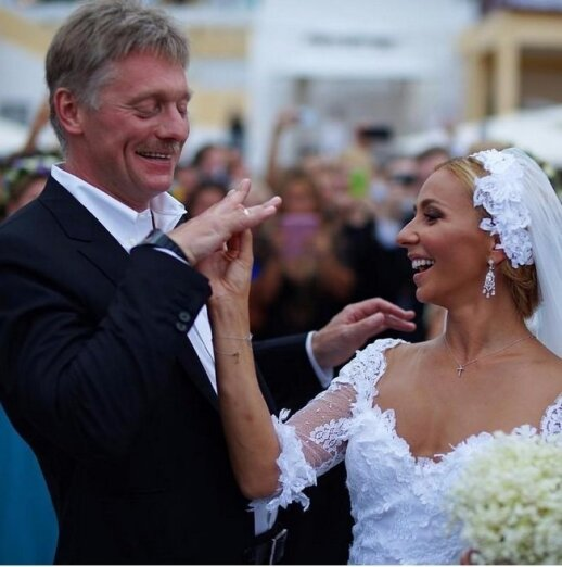 Dmitry Peskov at his wedding with Tatyana Navka