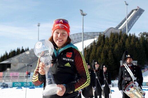 Vokietė biatlonininkė Laura Dahlmeier
