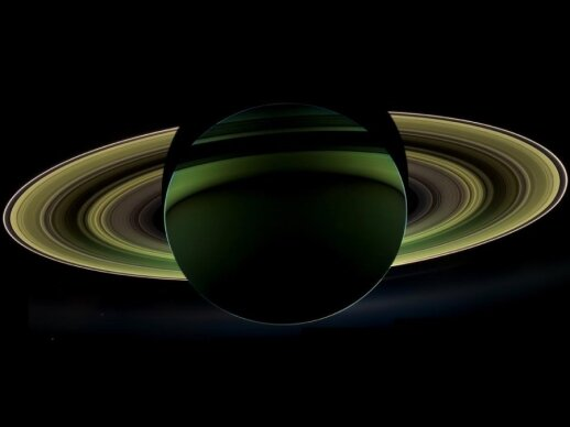 """""""Cassini"""" zondas užfiksavo Saturno užtemimą"""