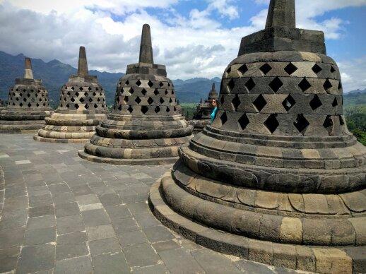 Borobudur ir Prambanan šventyklos Java saloje, Indonezija