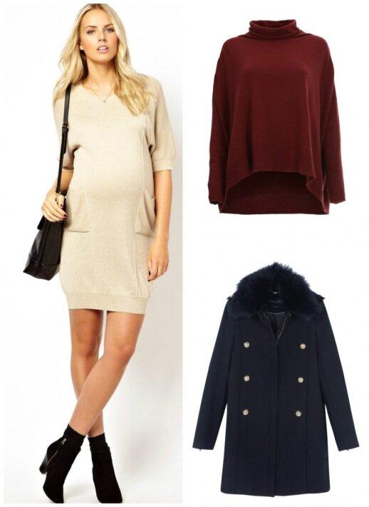 """Suknelė """"Asos"""", megztinis """"Aprangos galerija"""", paltas """"Massimo Dutti"""""""