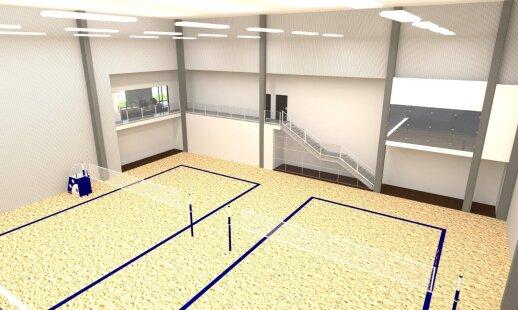 Statomo DELFI sporto centro vizualizacija
