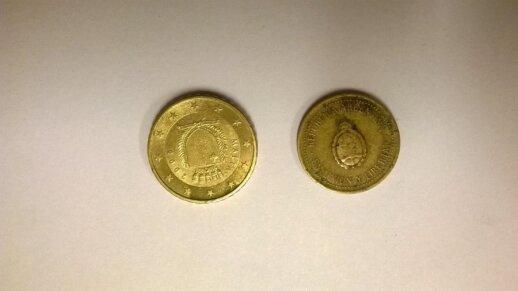 Maltos euro centai ir Argentinos sentavai
