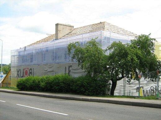 Renovuojamas Vienuolio g. daugiabutis