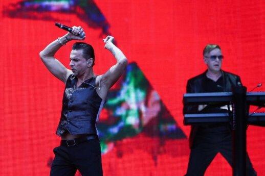 """Vingio parke daugiatūkstantinė minia šėlo """"Depeche Mode"""" koncerte"""