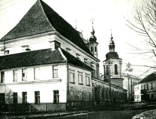 Vienuolyno ansamblis iš šiaurės rytų pusės. XX a. pradžia