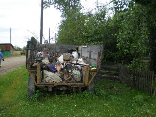 Sibiro glūdumoje atliekų išvežimu niekas nesirūpina
