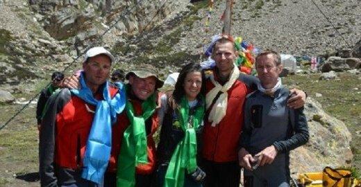 Ekspedicijos į Nanga Parbat dalyviai. Iš kairės: Ivan, Ihor, Nina, Saulius ir Oleg