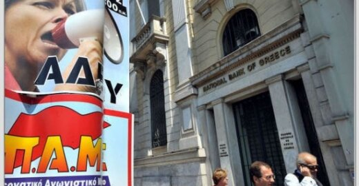 Krizė Graikijoje graso eurui