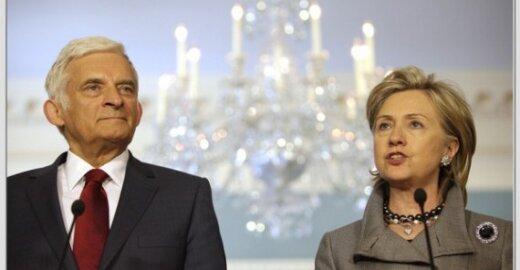 Jerzy Buzekas ir Hillary Clinton